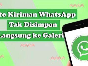 Tak Lagi Memenuhi Memori, Cara Agar Foto dari WhatsApp Tidak Langsung Masuk Galeri