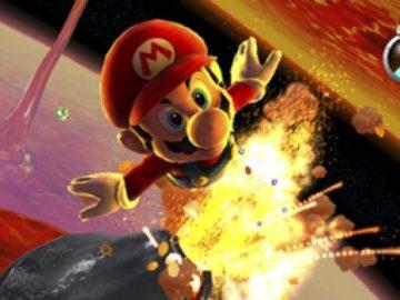 Foto dopkumnetasi yang disiarkan Nitendo hari ini (24/11) adalah Mario pergi ke planet dalam game