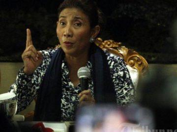Viral di WhatsApp & Medsos Salam 2 Jari Menteri Susi Diartikan Dukung Prabowo, Ini Fakta Sebenarnya
