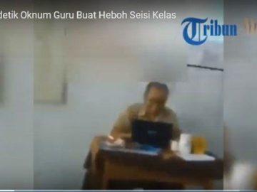 VIDEO: Viral di Whatsapp Oknum Guru Menonton Film Dewasa di Kelas, Murid Perempuan Hingga Menjerit