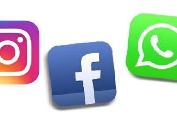 Ilustrasi logo Instagram, Facebook, Whatsapp