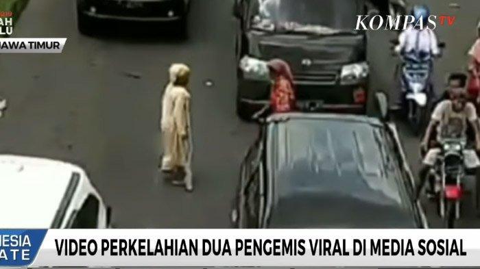 VIDEO VIRAL di Facebook: 2 Pengemis Cekcok Rebutan Lahan di Tengah Jalan, Ketahuan Pura-pura Pincang