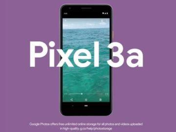 Smartphone Google Pixel 3a. (Google)