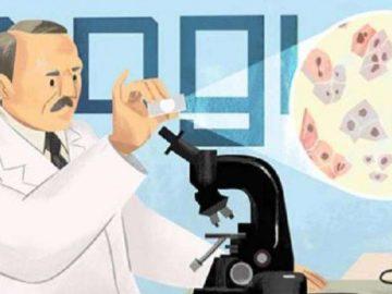 Google Doodle merayakan penemu alat tes pap smear.