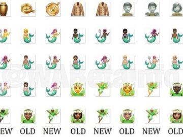 Gambar emoji WhatsApp yang diperbarui dalam edisi WA Beta. (WhatsApp/Livemint)