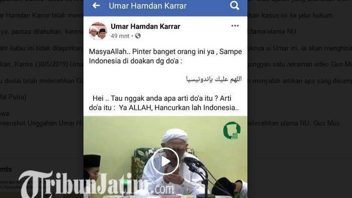 Dinilai Menghina Gus Mus, PC GP Ansor Pamekasan Laporkan Pemilik Akun Facebook Asal Madura