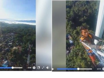 Video Viral Facebook, Seorang Pria Berada di Atas Tower Sampaikan Pesan Bagi Penggemar Game Online