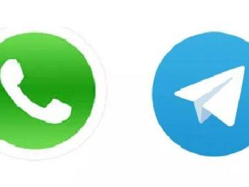 Logo WhatsApp dan Telegram