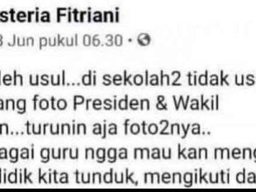 Gegara Posting Facebook Dilaporkan, Asteria Jadi Tersangka