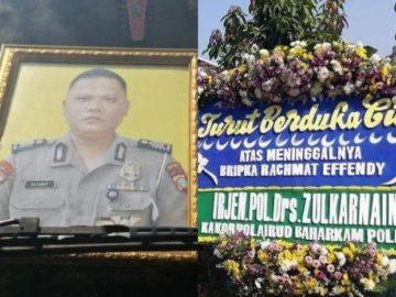 Bripka Rachmat Effendy yang tewas ditembak rekannya sendiri di Depok, Jawa Barat, Kamis (25/7/2019) kemarin.
