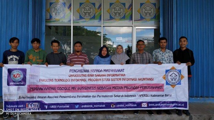 Dosen UBSI Pontianak Beri Pelatihan Google My Business pada APERSI Kalimantan Barat