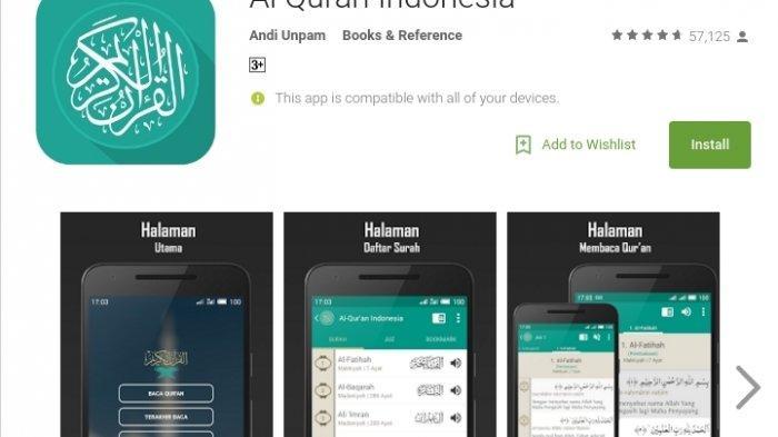 Download Aplikasi Alquran dengan Terjemahan 2019, Unduh Gratis di Google Play Store – Tribun Lampung