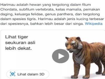 Keren, Kini Ada Fitur Hewan Virtual di Google