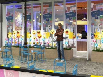 Suasana Facebook Cafe