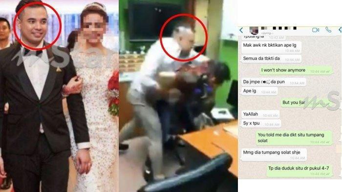 DIREKAM & VIRAL Detik-detik Aiman Pukul Dokter Selingkuhan Istrinya, Begini Isi Chat WhatsApp (WA)