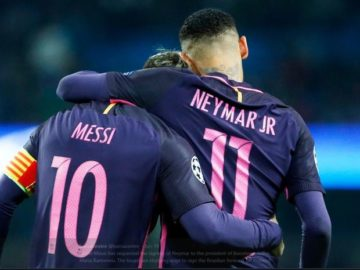 Neymar dan Lionel Messi saat sama-sama membela Barcelona.