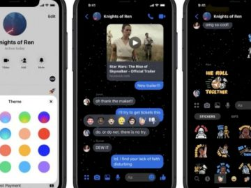 Facebook Messenger Tambahkan Dark Theme Star Wars