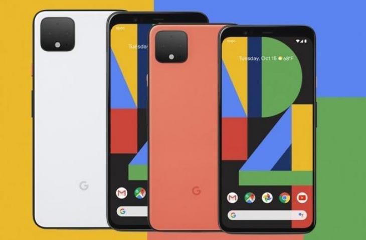 Tampilan depan dan belakang Google Pixel 4 dan Pixel 4 XL. (GSM Arena)