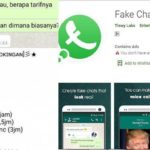 Whatsapp Palsu Rektor IAIN Solo Pesan Pijat Plus Hasil dari Aplikasi Fake Chat, Begini Cara Kerjanya